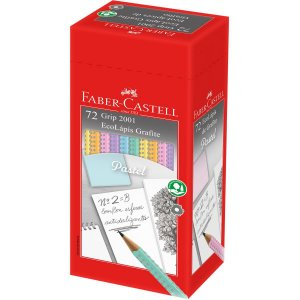 Lapis Preto Triangular Ecolapis Grip 2001 Tons Pastel Faber-Castell