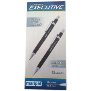 Lapiseira 0.5Mm Executive Metal Preto Maripel