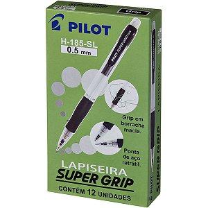 Lapiseira 0.5Mm Supergrip 0.5 H-185 Preta Pilot