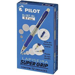 Lapiseira 0.7Mm Supergrip H-187 Azul Pilot