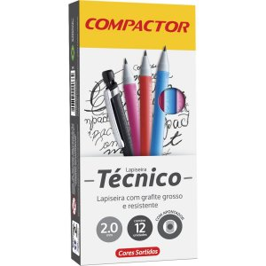 Lapiseira 2.0Mm Tecnico Nova C/apontador Sort Compactor