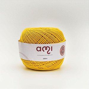 Linha Para Croche 130G 8/7 Fios 250M Ami Amarelo Barb. Piratininga