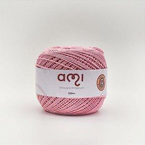 Linha Para Croche 130G 8/7 Fios 250M Ami Rosa Cl Barb. Piratininga