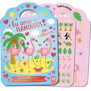 Livro Brinquedo Ilustrado Bicho Mania Flamingo Destac+Ad Vale Das Letras