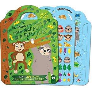 Livro Brinquedo Ilustrado Bicho Mania Macacos E Preguica Vale Das Letras