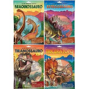Livro Brinquedo Ilustrado Dinossauros Sort. C/ Miniatura Culturama