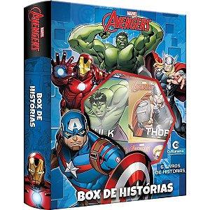 Livro Brinquedo Ilustrado Vingadores Box Historias C/6 Culturama