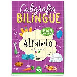 Livro Ensino Caligrafia Bilingue Alfabeto Vale Das Letras