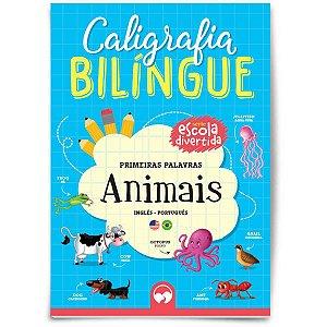Livro Ensino Caligrafia Bilingue Animais Vale Das Letras