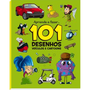 Livro Infantil Colorir 101 Desenhos Veiculos E Cartoo Vale Das Letras