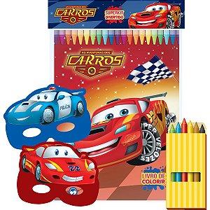 Livro Infantil Colorir Carros C/giz Super Kit Vale Das Letras