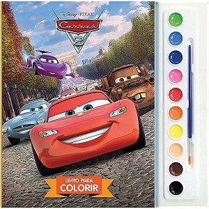Livro Infantil Colorir Cars Aquarela Dcl