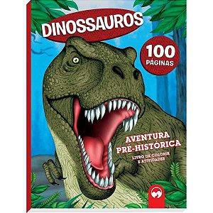 Livro Infantil Colorir Dinossauros Aventura Pre- Hist Vale Das Letras