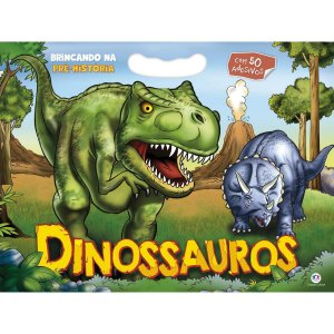Livro Infantil Colorir Dinossauros C/50 Adesivos 48Pa Ciranda