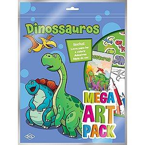 Livro Infantil Colorir Dinossauros Mega Art Pack Dcl