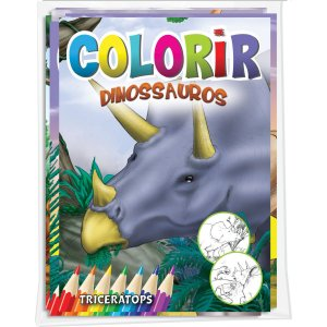 Livro Infantil Colorir Dinossauros Solapa Pequeno Bicho Esperto