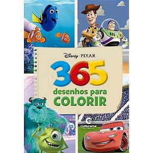 Livro Infantil Colorir Disney Pixar 365 Desenhos P/co Culturama