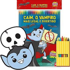 Livro Infantil Colorir Divertido Vampiro C/giz Vale Das Letras