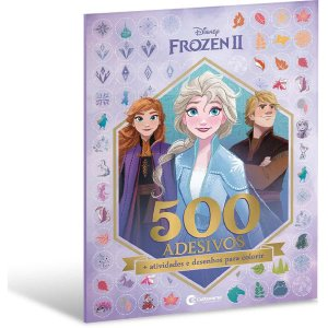 Livro Infantil Colorir Frozen Ii 500 Adesivos 44Pgs Culturama