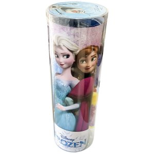 Livro Infantil Colorir Frozen Tubo C/ades/giz/canetin Dcl