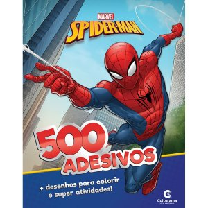 Livro Infantil Colorir Homem Aranha 500 Adesivos Culturama