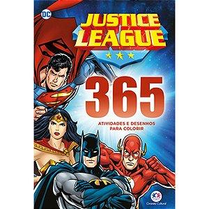 Livro Infantil Colorir Liga Da Justica 365 Atividades Ciranda