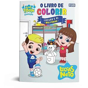 Livro Infantil Colorir Luccas Neto E Gi Nas Férias Ediouro