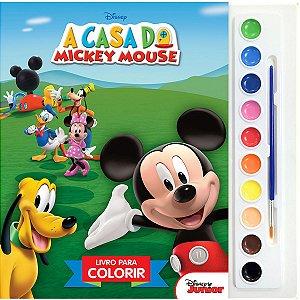 Livro Infantil Colorir Mickey Mouse Aquarela Dcl