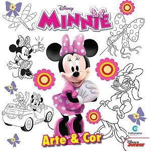 Livro Infantil Colorir Minnie Disney Arte E Cor Culturama