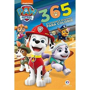 Livro Infantil Colorir Patrulha Canina 365 Atividades Ciranda