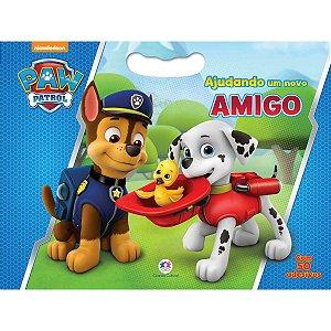 Livro Infantil Colorir Patrulha Canina C/50 Adesivos Ciranda
