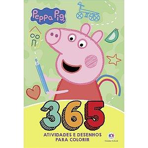 Livro Infantil Colorir Peppa Pig 365 Atividades Ciranda