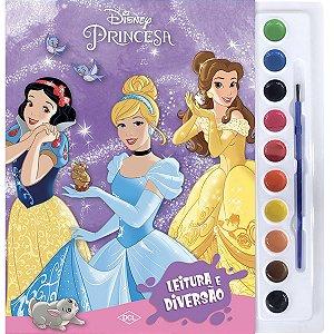 Livro Infantil Colorir Princesas Aquarela Dcl