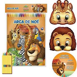 Livro Infantil Colorir Super Kit Arca De Noe C/giz Vale Das Letras