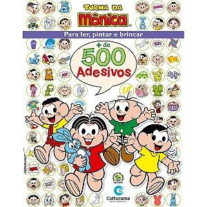 Livro Infantil Colorir Turma Da Monica 500 Adesivos Culturama