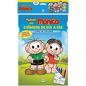 Livro Infantil Colorir Turma Da Monica C/giz De Cera Ciranda