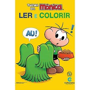Livro Infantil Colorir Turma Da Monica Ler E Colorir Culturama