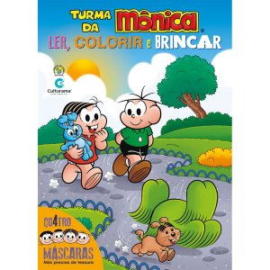 Livro Infantil Colorir Turma Da Monica Mascaras 32Pgs Culturama