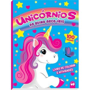 Livro Infantil Colorir Unicornios Reino Do Arco Iris Vale Das Letras