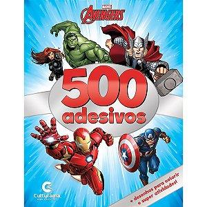 Livro Infantil Colorir Vingadores 500 Adesivos 44Pgs Culturama