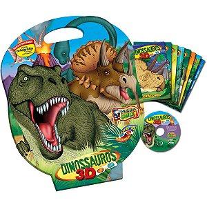 Livro Infantil Com Cd Ou Dvd Dinassauros 8Volumes + Jogo Vale Das Letras