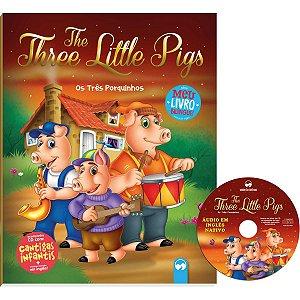 Livro Leitura Os Tres Porquinhos Bilingue Cd Vale Das Letras