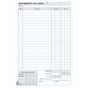Livro Movimento Caixa 1/18 100 Folhas Tilibra