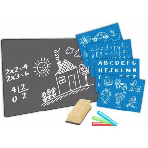 Lousa Infantil Blackboard 30X22Cm C/giz/apag/ Cortiarte