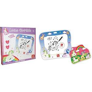 Lousa Infantil Unicornio C/quebra Cabeca Brinc. De Crianca