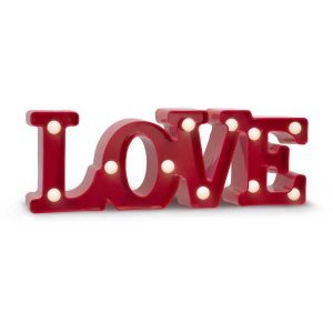 Luminarias Led Love Decorativa A Pilha Elgin