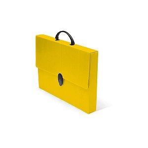 Maleta Novaonda Com Alca 4,0 Cm. Amarela Polibras