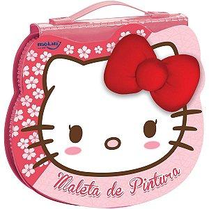 Maleta Para Pintura Licenciada Hello Kitty Face 70Itens Sort Molin