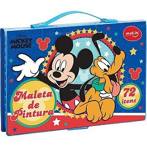 Maleta Para Pintura Licenciada Mickey Completa 72 Itens Sort Molin