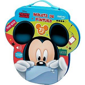 Maleta Para Pintura Licenciada Mickey Face Plast 70 Itens So Molin